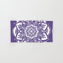 Ultraviolet Flower Mandala Hand & Bath Towel