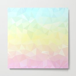 Pretty Pastels - Flipped Metal Print