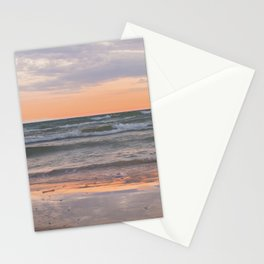 Peachy Keen Sunset Scene Stationery Cards