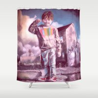 boy Shower Curtains featuring Boy by John Gray