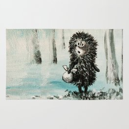 Hedgehog in the fog Rug