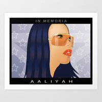 aaliyah Art Prints featuring Aaliyah by itsme23