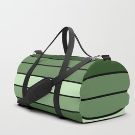 Green Stripes Duffle Bag