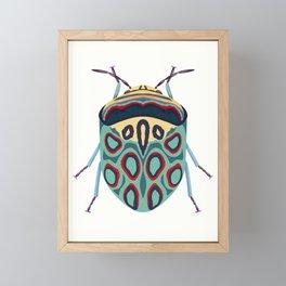 Blue Beetle Framed Mini Art Print