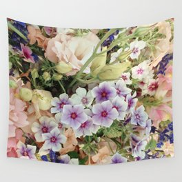 Vibrant Bouquet Wall Tapestry