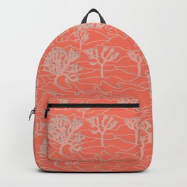 Joshua Tree Landscape in Sunset Orange Backpack