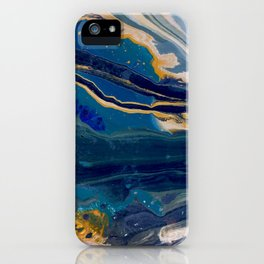 Marblized, Blue Series iPhone Case