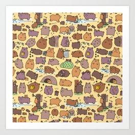 Beary Cute Bears Art Print