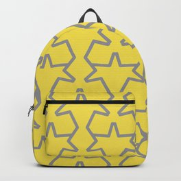 Tessellation Pattern 15 Abstract Stars Pantone 2021 Color Of The Year Illuminating Ultimate Gray Backpack