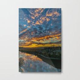 Back Bay Sunrise Colors v Metal Print