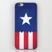 america iPhone & iPod Skins featuring America by gallant designs
