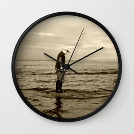 A Boy and The Sea Wall Clock