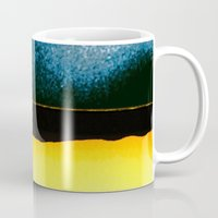 moon phase Mugs featuring New Moon - Phase I by Marina Kanavaki