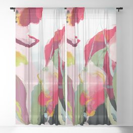 abstract bloom Sheer Curtain