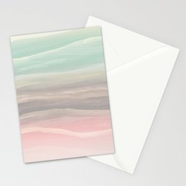 Pastel Watercolor Waves Abstract #1 #painting #decor #art #society6 Stationery Cards
