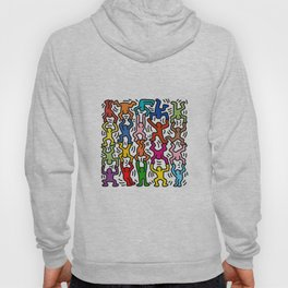 Homage to Keith Haring Acrobats II Hoody