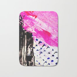 Funky abstract pink Bath Mat