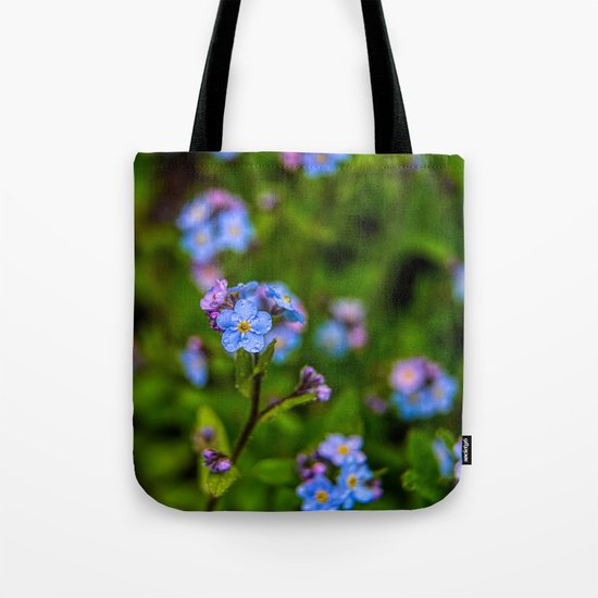 Forget-me-nots In The Rain Tote Bag