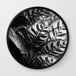 The Black & White Peacock Wall Clock