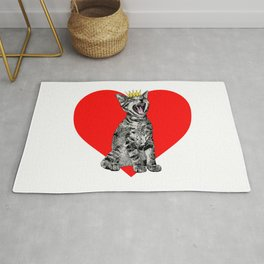 Kitty Heart Rug