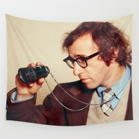 woody Wall Tapestries featuring WOODY ALLEN by VAGABOND