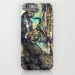 street musician saxophone iPhone Case