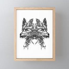 Firefox Tattoo Lineart Framed Mini Art Print