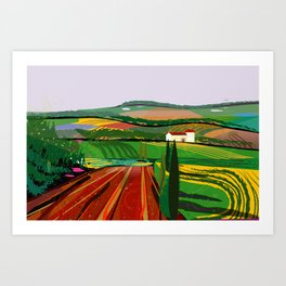 Farm Fields No. 8 Art Print