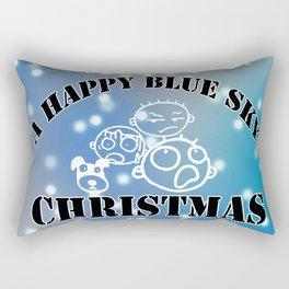My happy Blue Christmas! Rectangular Pillow