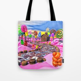 Pink Candyland Tote Bag