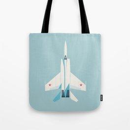 MiG-25 Foxbat Interceptor Jet Aircraft - Sky Tote Bag