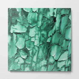 Flakey - Teal Metal Print
