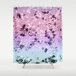 Unicorn Girls Glitter Stars #1 #shiny #pastel #decor #art #society6 Shower Curtain