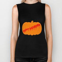 Totaly Evil Halloween Pumpkin Biker Tank