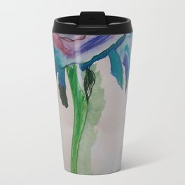 Flower inspiration modern paintings by Christian T. Travel Mug