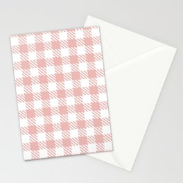 Plaid Pattern 512 Dusty Rose Stationery Cards