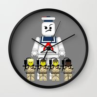 ghostbusters Wall Clocks featuring Ghostbusters  by AWOwens