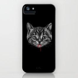 Black Pussy Cat iPhone Case