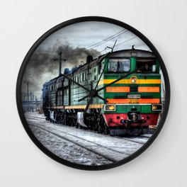 Diesel Train Locomotive Wall Clock