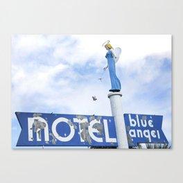 Blue Angel Motel Canvas Print