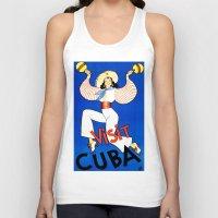 cuba Tank Tops featuring CUBA by Kathead Tarot/David Rivera