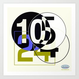 SRC Preparatins Race Numbers Two Art Print