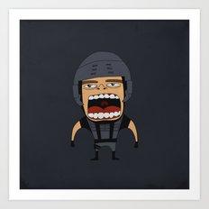 Screaming Johnny Rico Art Print