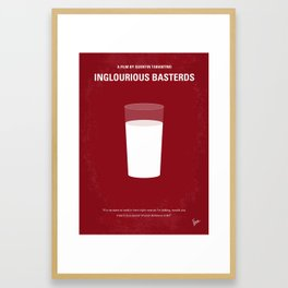 No138 My Inglourious Basterds minimal movie poster Framed Art Print