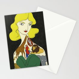 Wild in my reverie, tame within your arms Stationery Cards