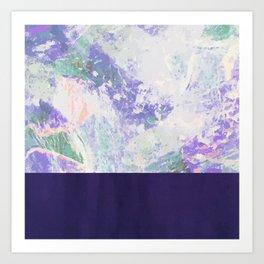 Bit of Brushstroke - Royal Blue Art Print
