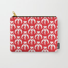 Mythosaur Skulls in Red and White Carry-All Pouch