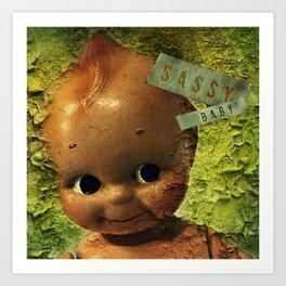 Sassy Baby Decay Art Print