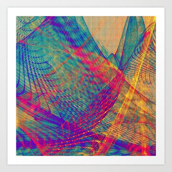 Tulle Hills Art Print