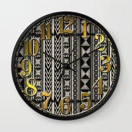 Boho Mud cloth (Black and White) Wall Clock